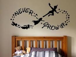 Kids Room Wall Decal Sticker Home Bedroom Wall Sticker Never Grow Up Peter Pan Cartoon Baby Room Nursery Decor X41 Wall Stickers Aliexpress