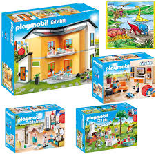 Amazon Com Playmobil Creative Kids Modern House Mega Toys Kit Indoor Games Includes Modern House Living Room Bathroom Housewarming Party W Bonus Dimple Washable Coloring Playmat Toys Games