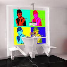 Shop Full Color Warhol Portrait Audrey Hepburn Full Color Wall Decal Sticker Sticker Decal Size 22x22 Overstock 14834338