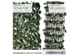 Single Side Leaves 1pc Artificial Ivy Leaf Expandable Stretchable Fence Screen Windscreen4less