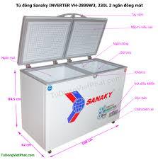 Tủ đông Sanaky VH-2899W3, INVERTER 230L 2 ngăn đông mát - Giá tốt