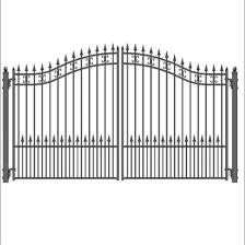 China Wrought Iron Fence Main Gate Design Swing Steel Driveway Gate China Fence Wrought Iron Fence