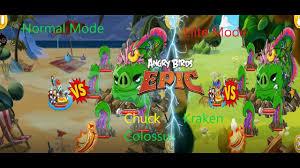Chuck VS Kraken Colossus. Angry Birds Epic - YouTube
