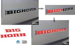 2019 Ram 1500 Bighorn Inlay Decal