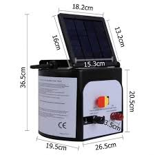15km Solar Power Electric Fence Energiser Charger