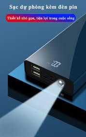 Cát Thái Pin Sạc Dự Phòng 30000mAh Polymer 3M mini nhỏ gọn tiện nghi cầm  theo sạc nhanh thích hợp dùng iPhone XiaoMi OPPO AUS VIVO giá chỉ 390.000₫