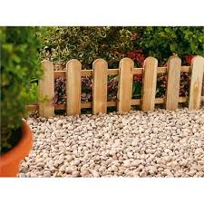Forest Picket Fence Garden Edging Homebase
