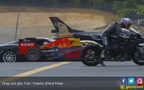 drag race superbike vs supercar