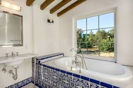 mediterranean bathroom also blue tiles