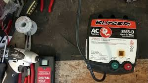 Blitzer 15 Mile 8565 D Fence Charger Blitzer Fence Charger Repair Youtube