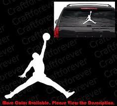 Large Jumpman Michael Jordan Car Window Die Cut Vinyl Basketball Decal Sp002 6 99 Picclick
