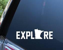 Minnesota Car Decal Etsy