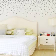 Metallic Dots Wall Decals 120 Silver Or Gold Decals 2 Inch Polka Dot V