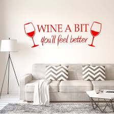 Shop Wine A Bit Wall Sticker Removable Pvc Art Decals Home Office Decor Red Overstock 29186833