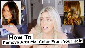 remove artificial color from your hair