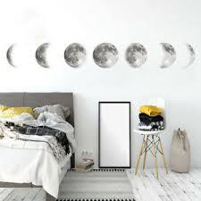 Luminous Moon Diy 3d Wall Sticker Glow In The Dark Home Decor Bedroom Decal Gift Ebay
