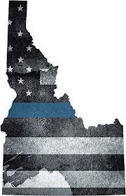 Amazon Com 5 Id Idaho State Thin Blue Line Tattered American Flag Police Sticker Law Automotive