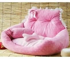 sweet cute pink pet dog cat sofa bed