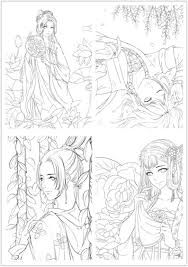 NEW/ colouring book for adults | Chinese Portrait Coloring Book For Adults  |Girl Coloring Pages Printable PDF Download
