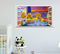 Simpsons Block Style Removable 3d Window Wall Sticker Art Decals Kids Decor Ebay