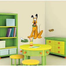 Roommates 5 In X 19 In Mickey And Friends Pluto 7 Piece Peel And Stick Giant Wall Decal Rmk1511gm The Home Depot