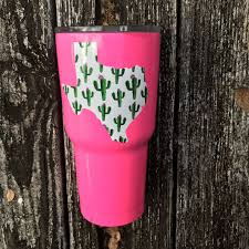 Texas Cactus Decal Yeti Cup Designs Decals For Yeti Cups Tumbler Designs