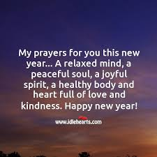 my prayers for you this new year