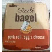 wawa pork roll egg cheese bagel