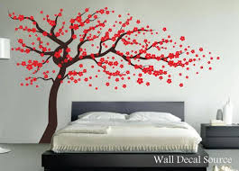 Red Cherry Blossom Tree Wall Decal By Walldecalsource On Etsy 67 00 Ditto For Baby S Room In Diff Colors Wall Vinyl Decor Home Wall Decor Tree Wall Decal