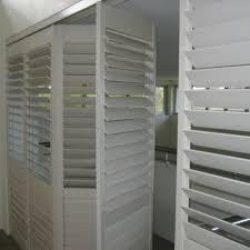 wood white horizontal folding exterior