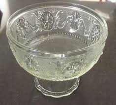 vintage indiana sandwich glass compote