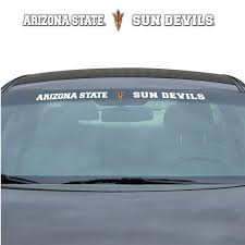 Arizona State Sun Devils Windshield Decal Logo And Team Name 33 Inches Hub City Sports