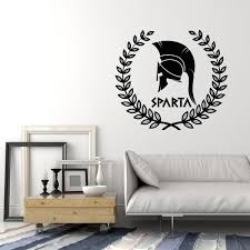 Vinyl Wall Decal Sparta Ancient History Greece Spartan Warrior Helmet Wallstickers4you