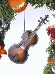 fiddle darkbrown hanging ornament