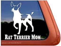 Amazon Com Nickerstickers Rat Terrier Mom Dog Vinyl Window Decal Automotive