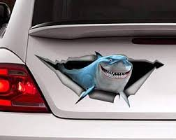 Amazon Com Bruce Decal Car Decal Shark Decal Nemo Sticker Fish Decal Shark Sticker Vinyl Decal Sticker For Cars Trucks Windows Walls Laptops 11 Home Kitchen