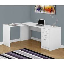glass top shaped office desk fashion