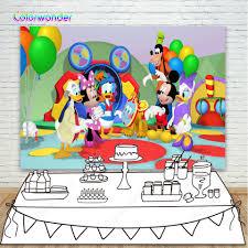 Chuột Mickey và Vịt Donald Phông Nền Nhiều Màu Sắc Bóng Bay Chụp ...