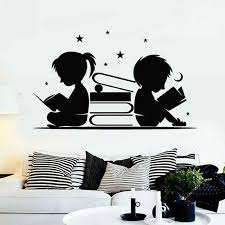 Reading Book Sticker Kids Read Decal Beauty Posters Vinyl Wall Decals Decor Mural Kids Room Decoration Wall Decal Wall Stickers Aliexpress