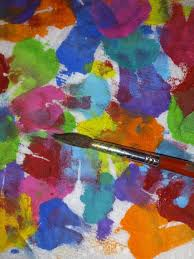 mixing colors with watercolor paints