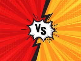 cartoon background red vs yellow
