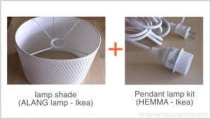 ikea easy diy pendant lamp with