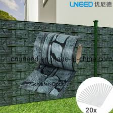 China Good Quality Schiefer Optik 450g 19cm 35m Pvc Strip Screen Garden Fence China Pvc Strip Fence And Pvc Screen Fence Price