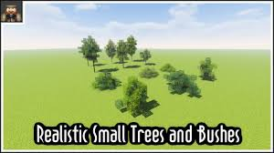 Minecraft Tutorial How To Make Realistic Small Trees And Bushes Youtube