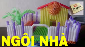 ĐTC - Độc đáo làm ngôi nhà từ ống hút - DIY house from straws ...