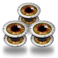 Decal Style Vinyl Skin Wrap 3 Pack For Popsockets Eyeball Yellow Red Popsocket Not Included By Wraptorskinz Popsockets Eyeball Red