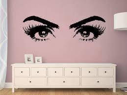 Eyelashes Eye Wall Sticker Girls Eyes Wall Decals Beauty Salon Wall Decals Eyes Art Beauty Salon Sticker Make Up Wall Decor C476 In 2019 Products