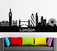 Amazon Com London City Decal City Sticker Skyscraper Wall Decal Window Sticker Room Vinyl Sticker Building Decor House Sight Skgmi11 Home Kitchen