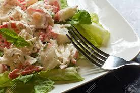 Mayonnaise Seafood Salad With Shrimp ...