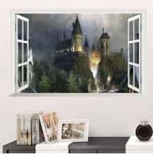 Hogwarts Harry Potter 3d Window View Decal Graphic Wall Sticker Ebay
